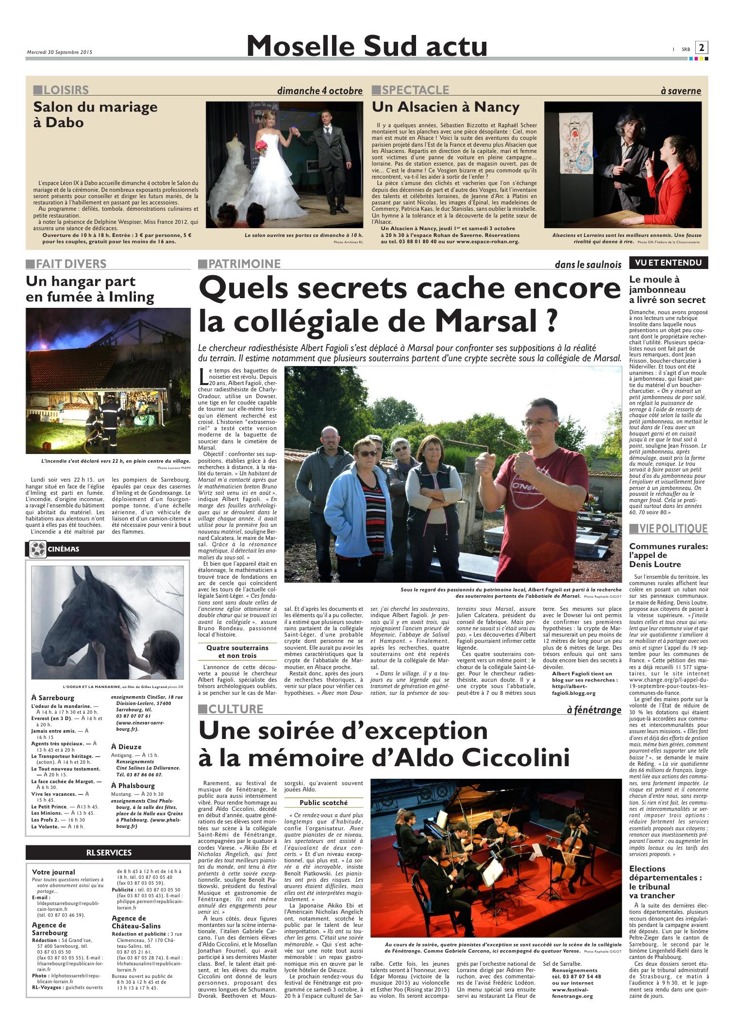 Articles De Presse World Dowsing France